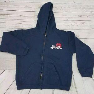 Quicksilver Zip Up Hooded Sweater Jacket